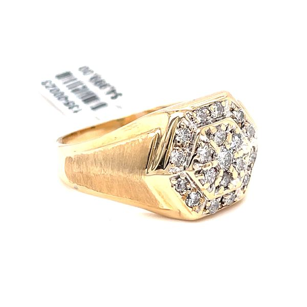 14K Yellow Gold 1.8ct Diamond -Mens Ring SI1 J CLR Image 2 Kingsmark Jewelers Jacksonville, FL