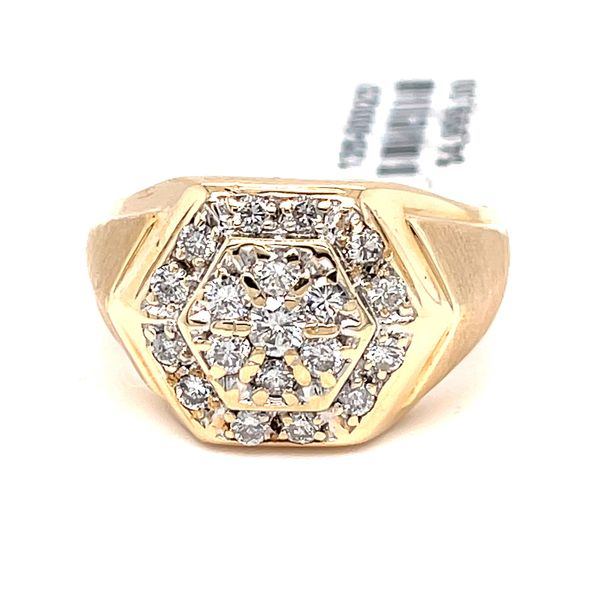 14K Yellow Gold 1.8ct Diamond -Mens Ring SI1 J CLR Kingsmark Jewelers Jacksonville, FL