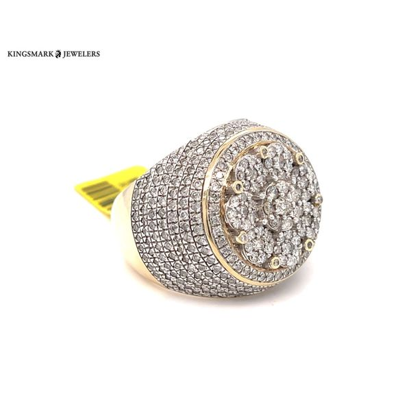 10K Yellow Gold 3.16ct Diamond -Mens Ring Si2 G Kingsmark Jewelers Jacksonville, FL