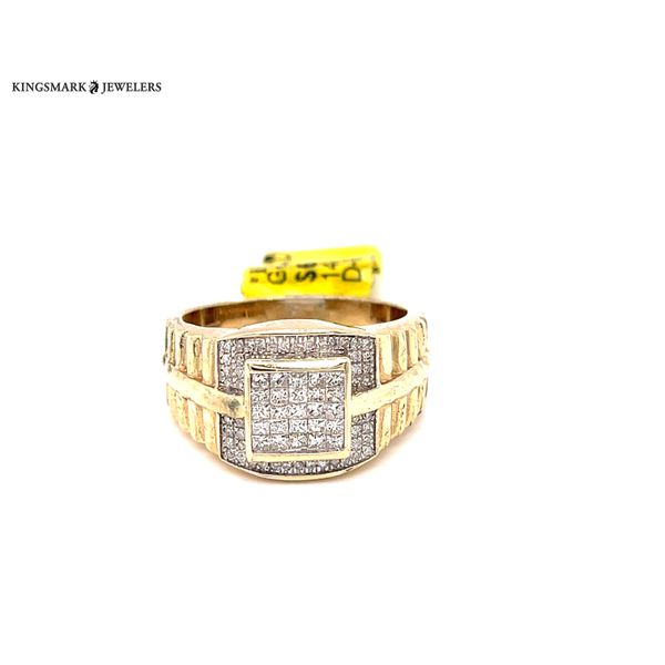 14K Yellow Gold 0.6ct Diamond -Mens Ring Si G Kingsmark Jewelers Jacksonville, FL