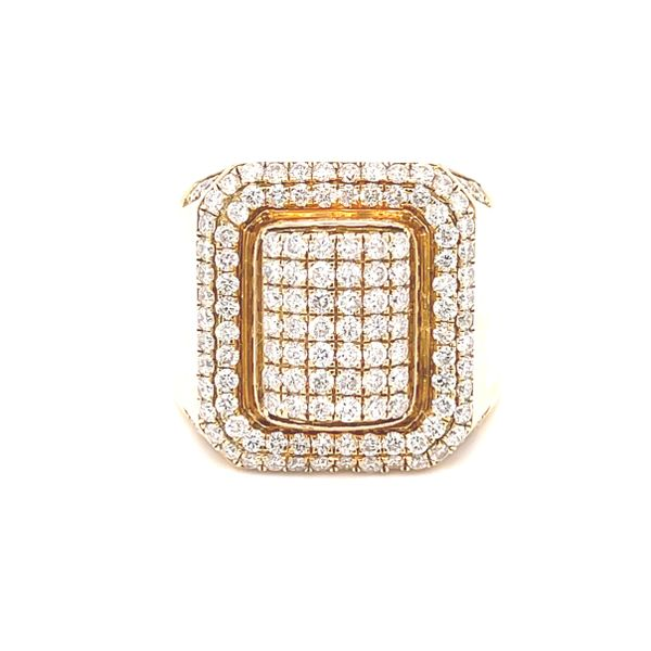 10K Yellow Gold 2.05ct Diamond -Mens Ring Si G Image 2 Kingsmark Jewelers Jacksonville, FL