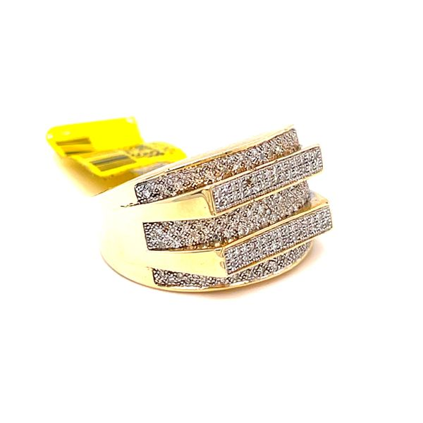 10K Yellow Gold 0.6Ct Diamond -Mens Ring Si Gs Image 2 Kingsmark Jewelers Jacksonville, FL