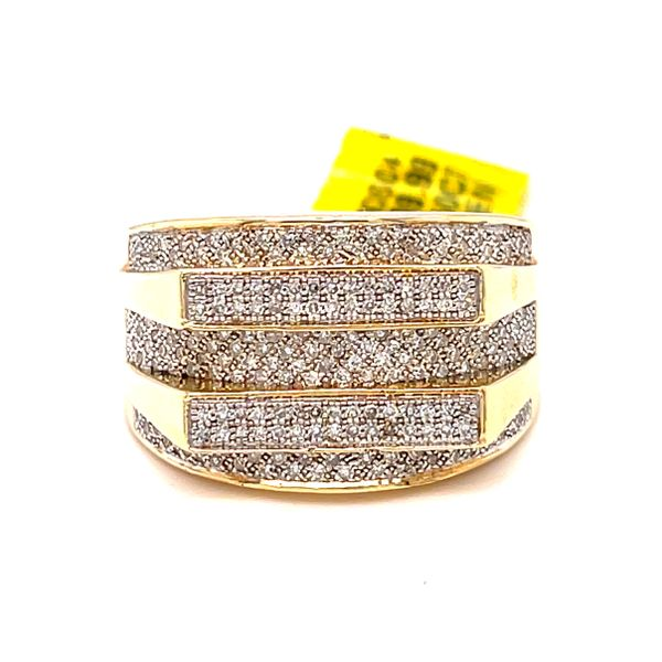 10K Yellow Gold 0.6Ct Diamond -Mens Ring Si Gs Kingsmark Jewelers Jacksonville, FL
