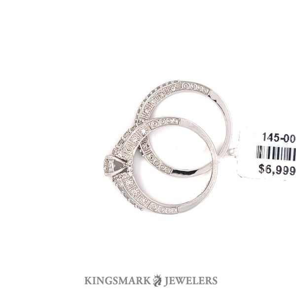 14K White Gold 1.00ct Diamond Bridal 0.33CT CTR VS1 H Image 2 Kingsmark Jewelers Jacksonville, FL