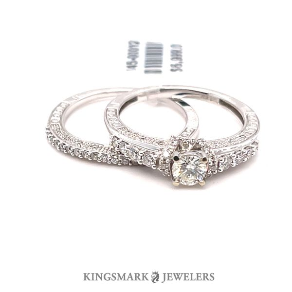 14K White Gold 1.00ct Diamond Bridal 0.33CT CTR VS1 H Kingsmark Jewelers Jacksonville, FL