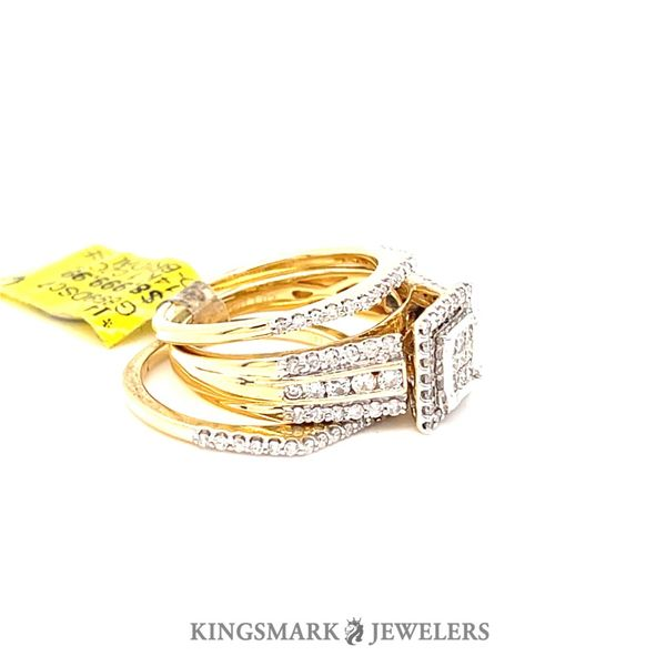 14K Yellow Gold 1.02ct Princess Cut Diamond-Bridal Set SI GS Image 2 Kingsmark Jewelers Jacksonville, FL