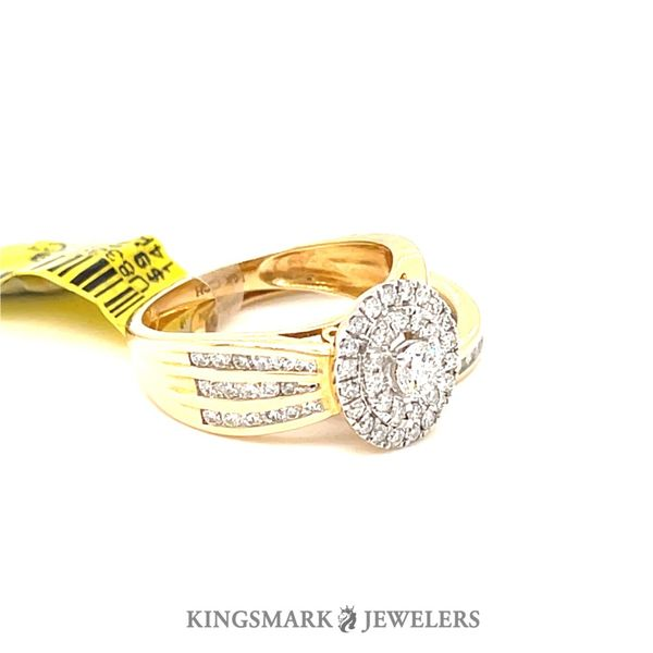 14K Yellow Gold 1.00ct Diamond-Bridal Set 0.20CT  CTR SI GS Image 2 Kingsmark Jewelers Jacksonville, FL