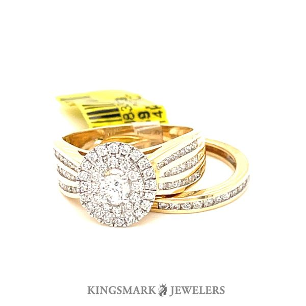 14K Yellow Gold 1.00ct Diamond-Bridal Set 0.20CT  CTR SI GS Kingsmark Jewelers Jacksonville, FL