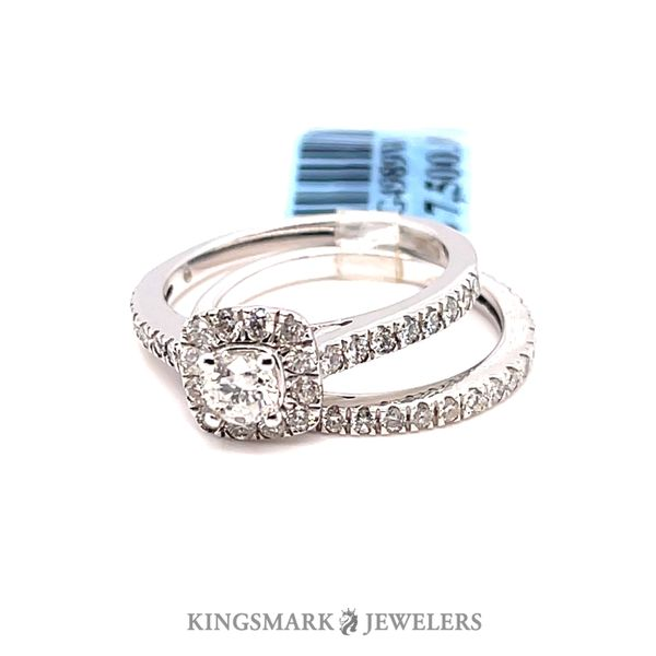 14KW 1.00ct Dia Halo Bridal Set Si1, GH (CTR 0.25ct) Kingsmark Jewelers Jacksonville, FL