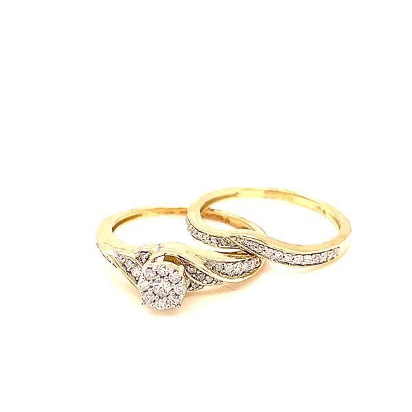 10K Y.Gold 0.33ct Diamond Cluster Bridal Set Si2, G Kingsmark Jewelers Jacksonville, FL