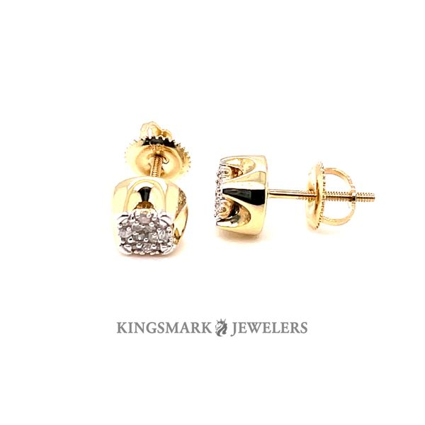 10K Yellow Gold 0.15ct Diamond Earrings Screw Back Kingsmark Jewelers Jacksonville, FL