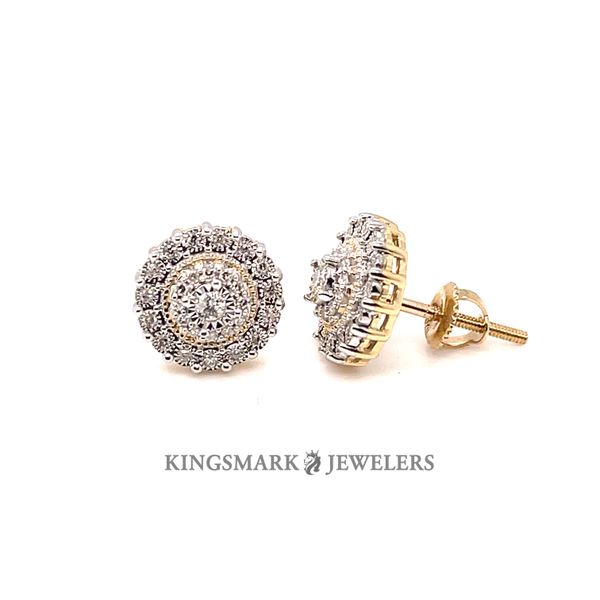 10K Yellow Gold 0.20ct Diamond Earrings Screw Back Kingsmark Jewelers Jacksonville, FL