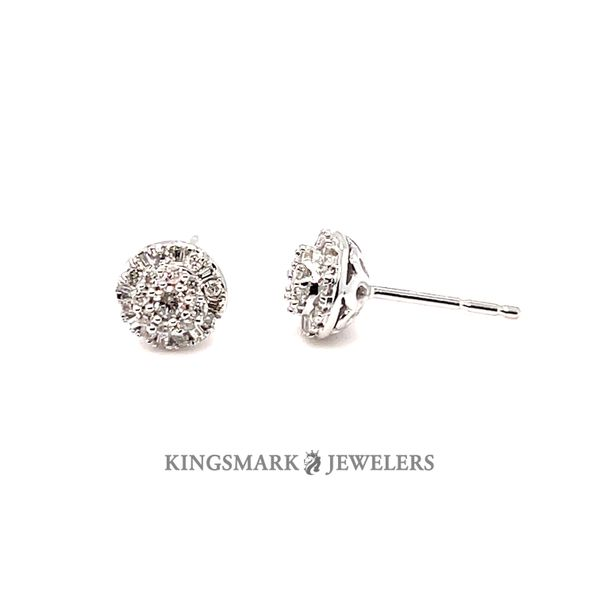 10K White Gold 0.25ct Diamond Earrings Si 1, H Kingsmark Jewelers Jacksonville, FL