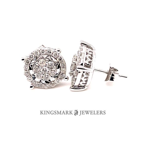 10K W.Gold 1.00ct DIA Earrings Si 1, H Kingsmark Jewelers Jacksonville, FL