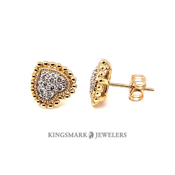 10K Yellow Gold 0.25ct DIA Earrings Si 1, H Kingsmark Jewelers Jacksonville, FL