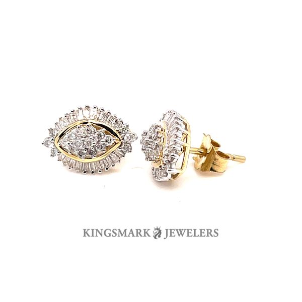 10K Yellow Gold 0.50ct DIA Earrings Si 1, H Kingsmark Jewelers Jacksonville, FL