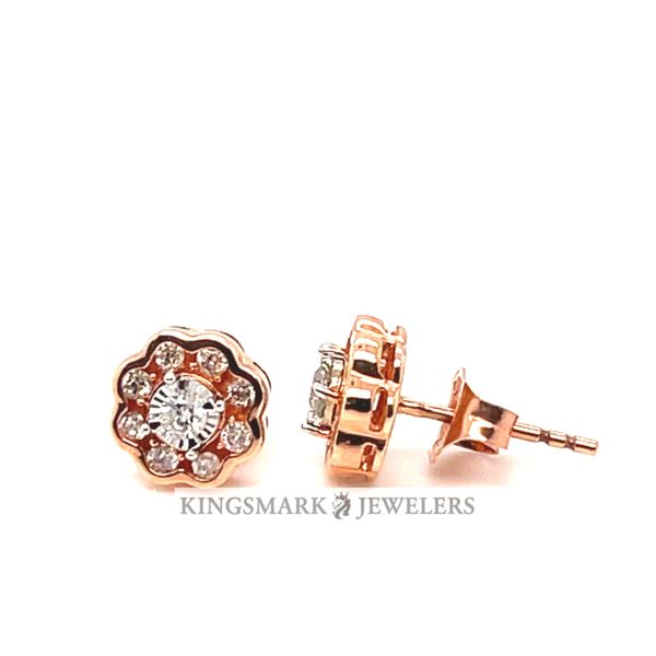 10K Rose Gold 0.25ct DIA Earrings Si 1, H Kingsmark Jewelers Jacksonville, FL