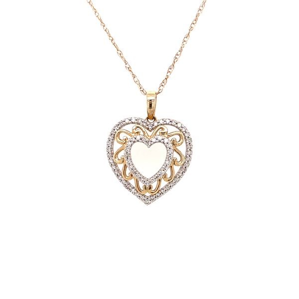10K Yellow Gold 0.15ct Diamond Pendant Set Kingsmark Jewelers Jacksonville, FL