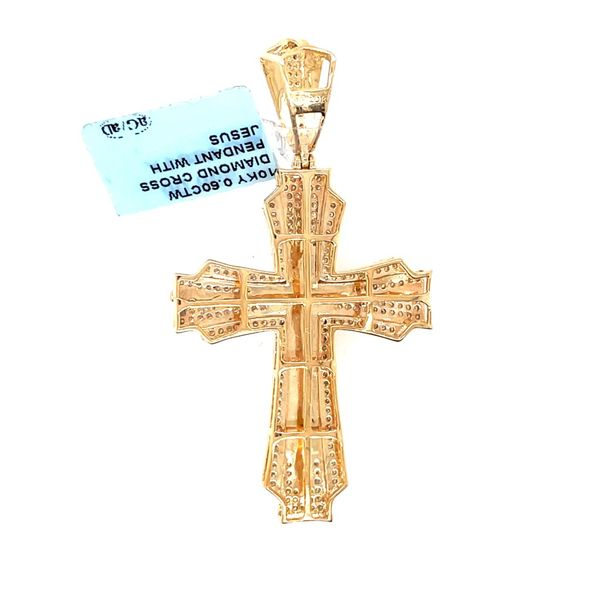10K Yellow Gold 0.60ct Diamond Cross Charm SI GH Image 2 Kingsmark Jewelers Jacksonville, FL