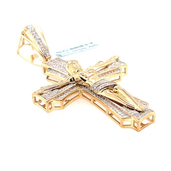 10K Yellow Gold 0.60ct Diamond Cross Charm SI GH Image 3 Kingsmark Jewelers Jacksonville, FL