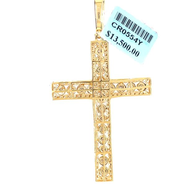 10K Yellow Gold 2.10ct Diamond Cross Charm Image 2 Kingsmark Jewelers Jacksonville, FL