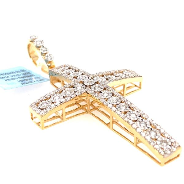 10K Yellow Gold 2.10ct Diamond Cross Charm Image 3 Kingsmark Jewelers Jacksonville, FL