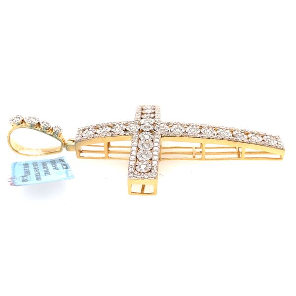 10K Yellow Gold 2.10ct Diamond Cross Charm Image 4 Kingsmark Jewelers Jacksonville, FL
