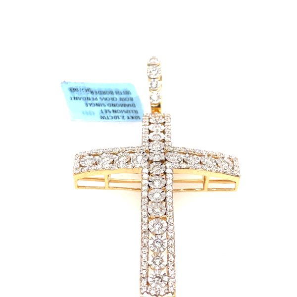 10K Yellow Gold 2.10ct Diamond Cross Charm Image 5 Kingsmark Jewelers Jacksonville, FL