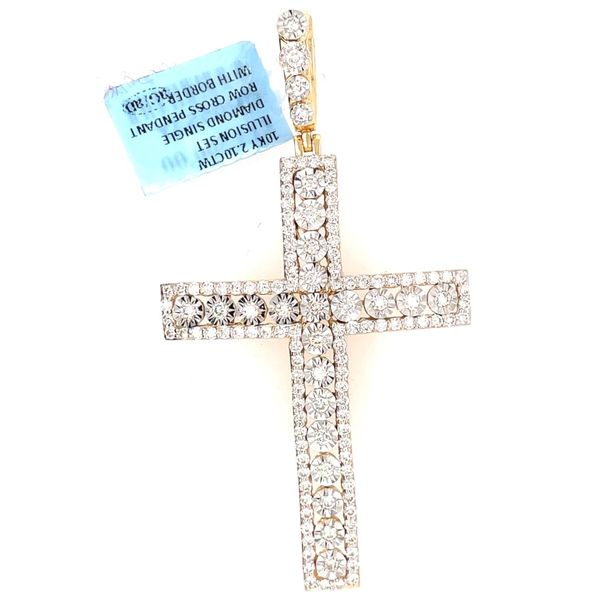 10K Yellow Gold 2.10ct Diamond Cross Charm Kingsmark Jewelers Jacksonville, FL