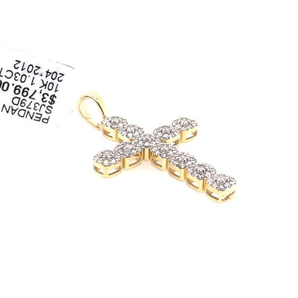 10K Yellow Gold 1.03ct Diamond Cross Charm Image 2 Kingsmark Jewelers Jacksonville, FL