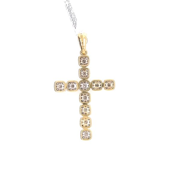 10K Yellow Gold 1.03ct Diamond Cross Charm Image 3 Kingsmark Jewelers Jacksonville, FL
