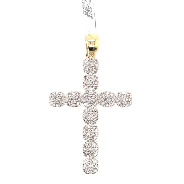 10K Yellow Gold 1.03ct Diamond Cross Charm Kingsmark Jewelers Jacksonville, FL