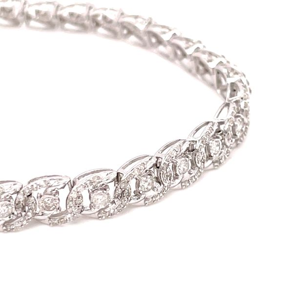 10K White Gold 2.00ct Diamond Bracelet Si 1, G Image 2 Kingsmark Jewelers Jacksonville, FL