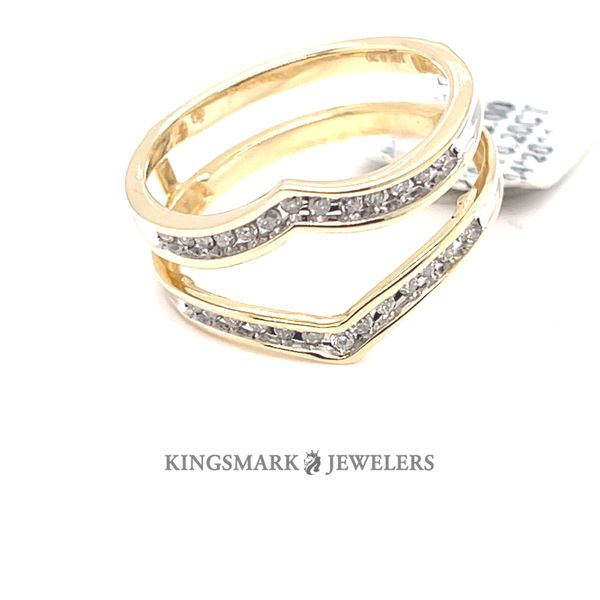 10K Yellow Gold 0.20ct Diamond Ring Enhancer Kingsmark Jewelers Jacksonville, FL