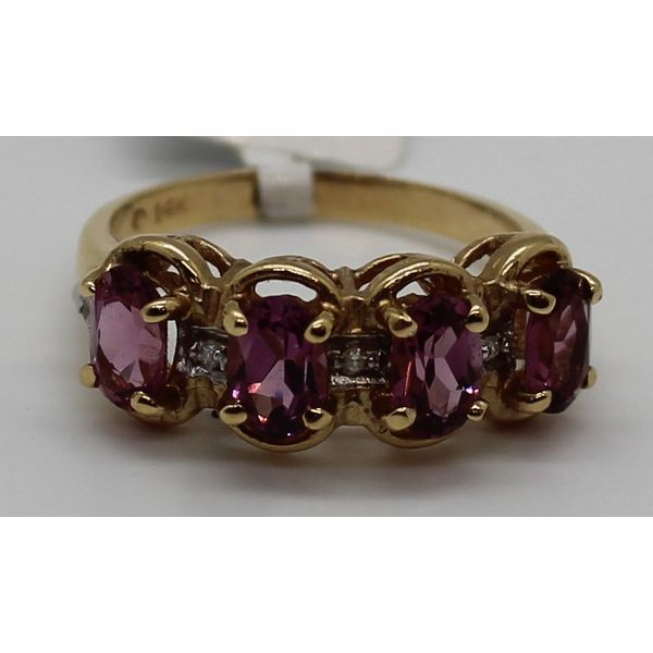 14K Yellow Gold PURPLE STONE RING Kingsmark Jewelers Jacksonville, FL