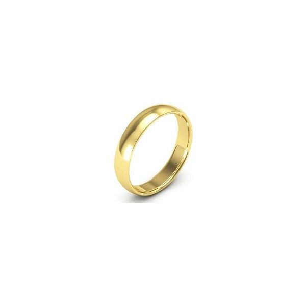 10K Yellow Gold Wedding Band 4mm 11