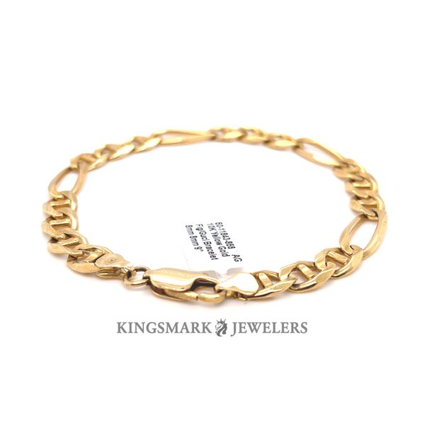 10K Yellow Gold Fig/Guci Bracelet 8mm 8mm 9