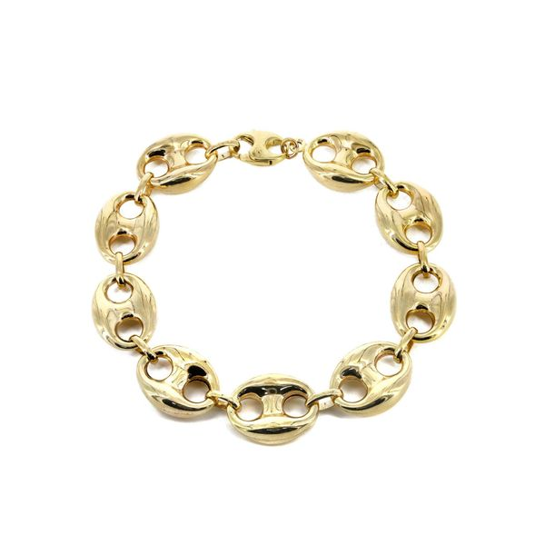 10K Yellow Gold Puff Gucci Bracelet 8mm 9