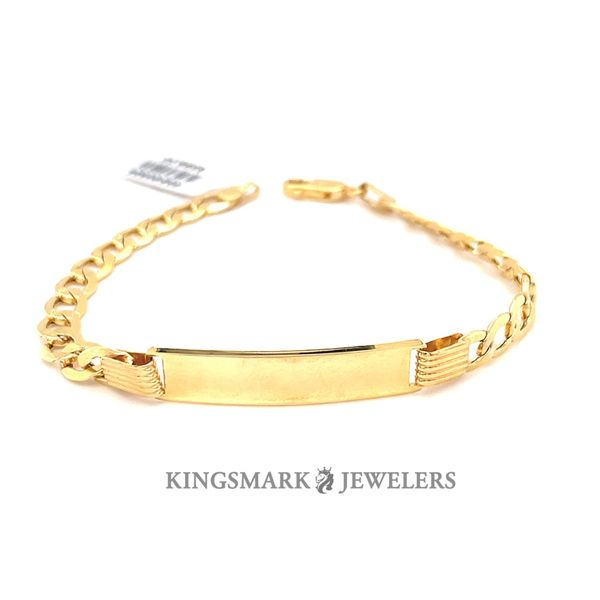10K Yellow Gold Ladies ID Bracelet 5.5mm 7