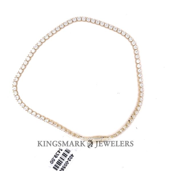 10K Yellow Gold CZ Tennis Bracelet 2.5mm 8