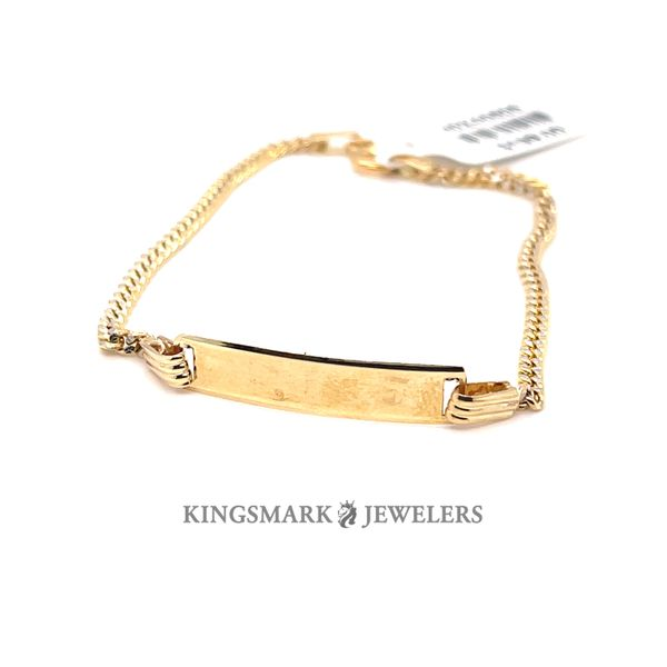 10K Yellow Gold M.Cuban ID Baby Bracelet 2mm 6