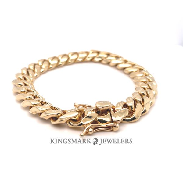 10K Y.Gold Solid Miami Cuban Bracelet 12mm 9