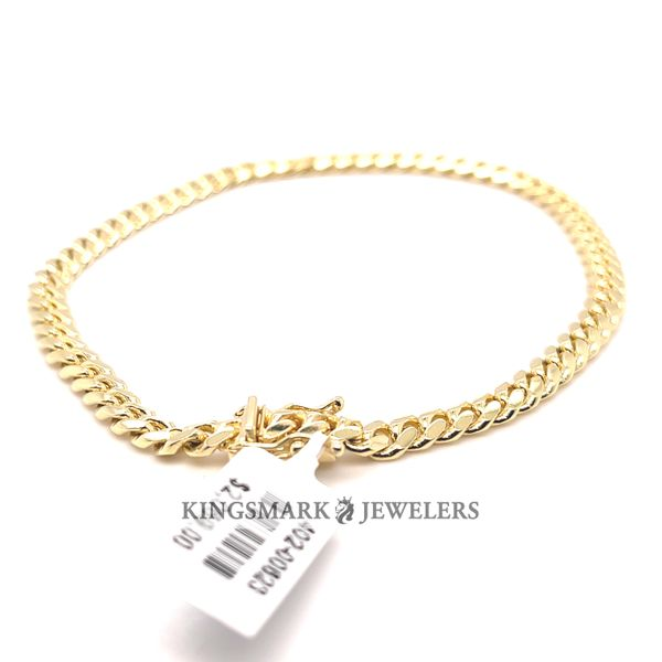 10K Yellow Gold Solid Miami CBN Bracelet 5mm 9