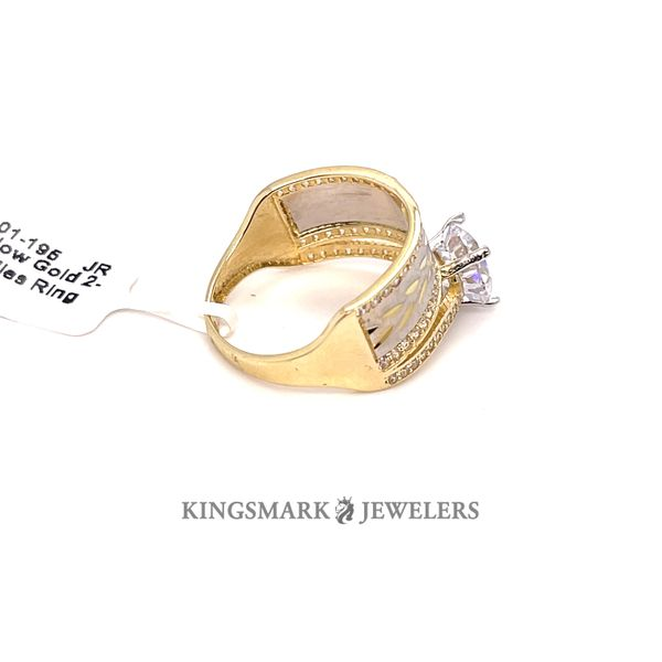 10K Yellow Gold 2-Tone CZ Ladies Ring Image 2 Kingsmark Jewelers Jacksonville, FL