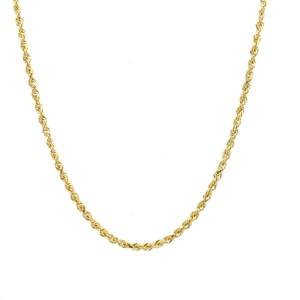 10K Yellow Gold Solid Rope Chain 1.5MM 18