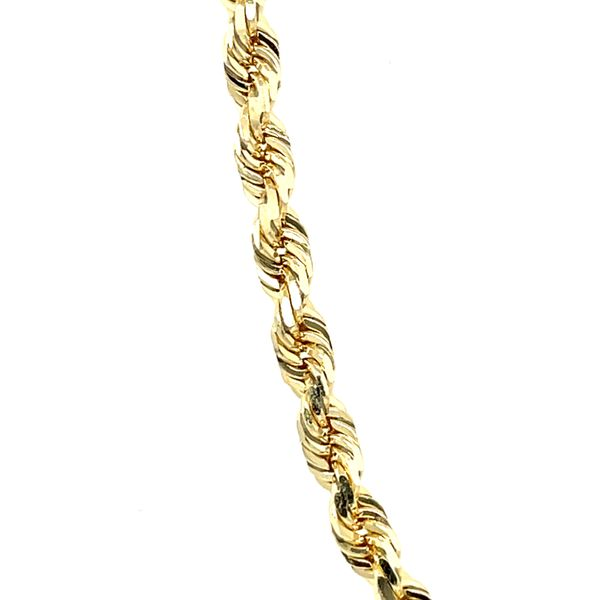 10K Yellow Gold Solid Rope 3.5mm 22