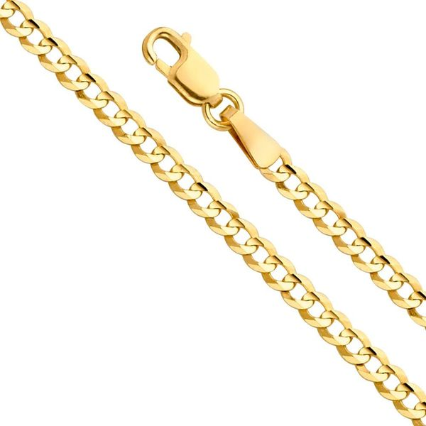 10K Yellow Gold Solid Cuban Chain 3.5mm 24
