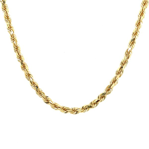 10K Yellow Gold Solid Rope Chain 4.5mm 26