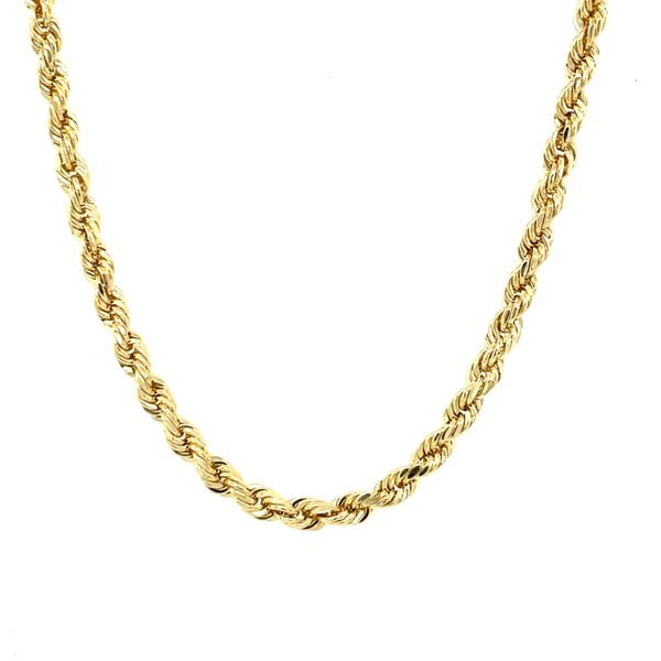 10K Yellow Gold Rope 3mm 24