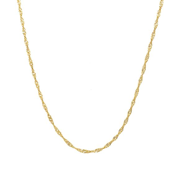 10K Yellow Gold Twisted Rope 16